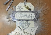 Mixed Media Tags by Moons and Stars / Tags are so versatile. Small pieces of art that you can attach to presents, house-warming gifts, or a nice bottle of wine to share for dinner.