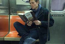 hot guy reading