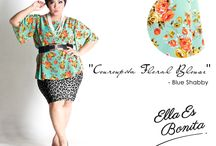 2015 - Couroupita Floral Loose / Tops which specially designed for sophisticated curvy women originally made by Indonesian Designer & Local Brand: Ella Es Bonita.
