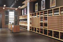 вино / интерьеры винных магазинов