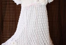 Craft:  Crochet-christining gown