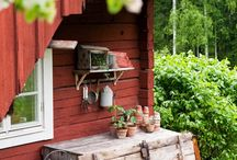 trädgård stuga