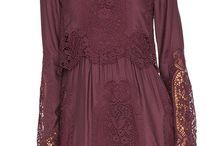 FASHION - Maroon Dress