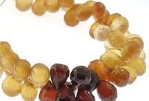 Hessonite Faceted Natural Gemstone Beads