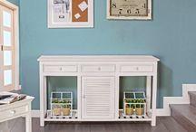 Muebles blancos / Muebles blancos, aportan mucha luz a cualquier espacio y son muy fáciles de conjuntar con cualquier gama de colores.