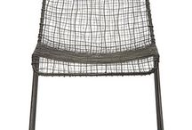 Wire woven chair