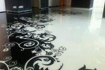 műgyanta padló