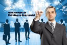 MBA em Gestão Estratégica Empresarial / O MBA em Gestão Estratégica Empresarial interage com as principais áreas e recursos empresariais como a administração geral, pessoas, finanças e Marketing.