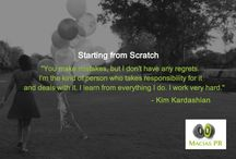Starting from Scratch / Inspirational quotes on starting any business or project from scratch.