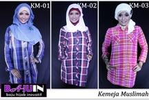 Kemeja Muslimah / Kemeja Muslimah dengan kombinasi kotak-kotak. BBM 3138DCCF , SMS 088218445400