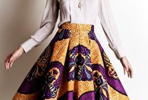 Traditional African skirts