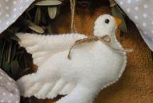 fehér galamb filcből