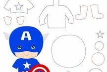 super heróis moldes