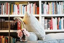 Cozy Home Libraries / I am gathering inspiration to convert a small guest bedroom into a cozy home library!