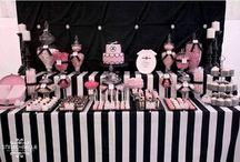 Fiesta negro y rosa