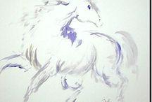Art peinture de cheval / by Monique Daigle