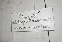 No shoes sign