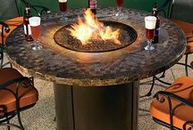 Fire Pit with table structure