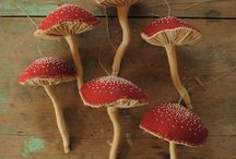 DIY pieniä sieviä sieniä