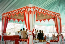 wedding: tents. canopies. / If you have to have outdoor shelter at your #wedding or #event, it might as well take your breath away.