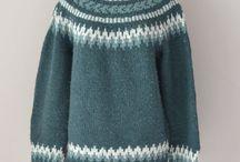 Mønster strikka genser og jakker