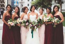 bridesmaid and MOH dresses