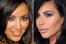 Kim Kardashian Before and After / Kim Kardashian before and after photos, visible changes through the years