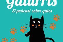 Gaturris: el podcast sobre gatos / Imágenes que ilustran los episodios del podcast de Gaturris. #cats #pets #gatos