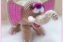 Elefant / Hæklede dyr