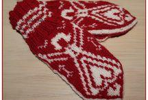 Mittens Norwegian pattern / Votter i mønsterstrikk, strikket av Guri Ø. Halvorsen