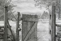 4. Landschaften Zeichnungen