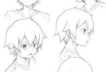 Anime 캐릭터2 얼굴 드로잉