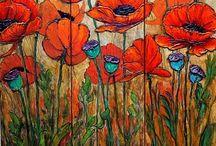 poppy painting acrylic