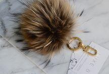 Fur keychains