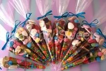 Party Bags, Cones and Ideas / Anything sweet related with go with parties and birthdays