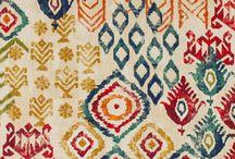 Ikat pattern designs