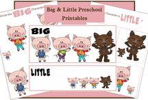 Big and little preschool printables