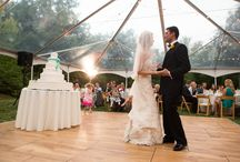Clear Span Tents / These tents have a clear top for star gazing, or letting some sunlight into your event!