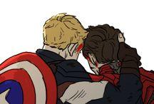 Steve/Tony / Stony Steve | Tony Captain America | Iron man Avengers