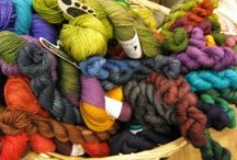 Gorgeous hand-dyed yarns