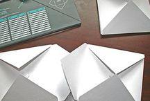 Envelope punch board - making Mini books