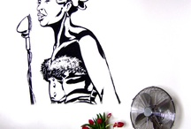 Billie Holiday on the wall of the house!