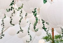*canopies & chandeliers* / Look up! There's flowers overhead!