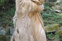 wooden sculptures , zezba drewno
