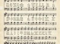 Jingle Bells sheet piano vintage