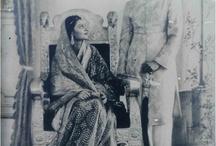 Indian vintage photo's / Woman, maharaja and maharani's
