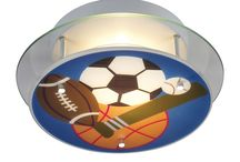 Sports-themed kids' room / Sports-themed kids' bedroom/playroom.
