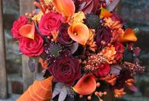 Fall Bouquets / A colorful culture produced a colorful couple. Bouquets saturated with fall inspired ambiance are a must! Red is my favorite, coupled with oranges and plums mak / by shaureena bobcombe