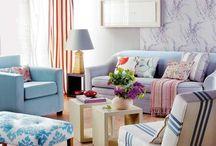 Decorar con telas / Tapicerías, cortinas, alfombras, visillos… Ideas, trucos y consejos para decorar con textiles. Aprende a combinar telas.