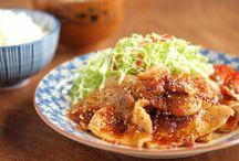 ピリ辛豚の生姜焼き